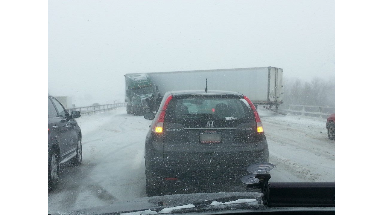 Major roadways close due to conditions, crashes