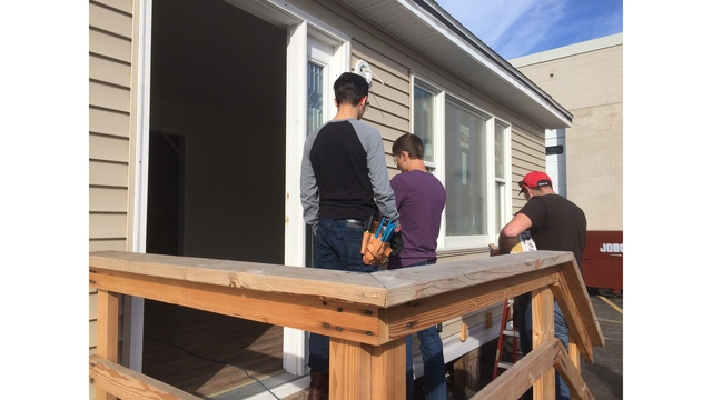 Student built home going up for auction