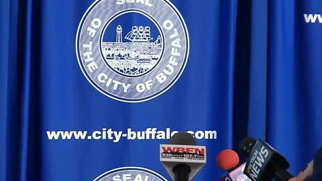 City officials give an update on the clean-up situation in Buffalo