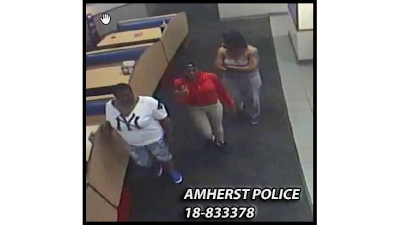 Amherst Police looking to identify three persons of interest in criminal incident