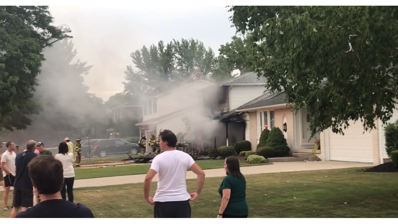 Williamsville house becomes fully engulfed in flames on Saturday night