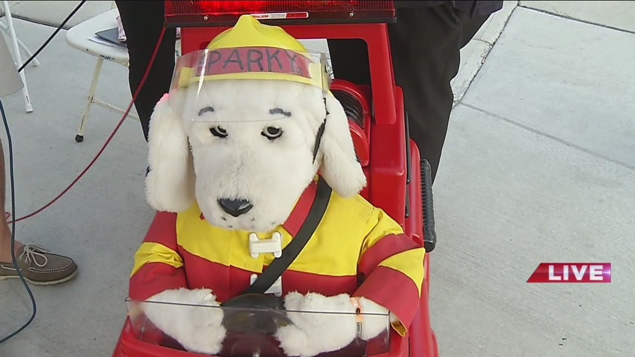 VIDEO Talking Fire Prevention With Glen Sickles And Sparky The Dog