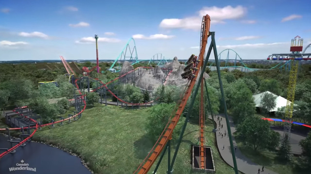 Canada's Wonderland introduces world's fastest, tallest, longest dive coaster