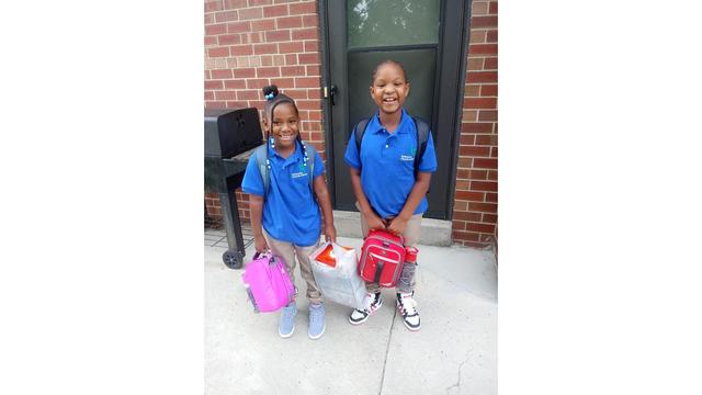 A'Layah (4th grade) and A'Niyah (2nd grade) going to Enterprise Charter School, courtesy of Chrissy_1536064482100.jpg.jpg