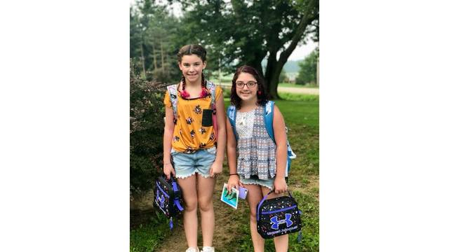 McKenzie (5th grade) and Madie (6th grade) going to North Collins Elementary School_1536064505529.jpg.jpg