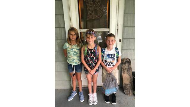 Miranda (6th grade), Paige (5th grade) and Noah (3rd grade) are going to North Collins Elementary School. Photo - Chauntel_1536064506985.jpg.jpg