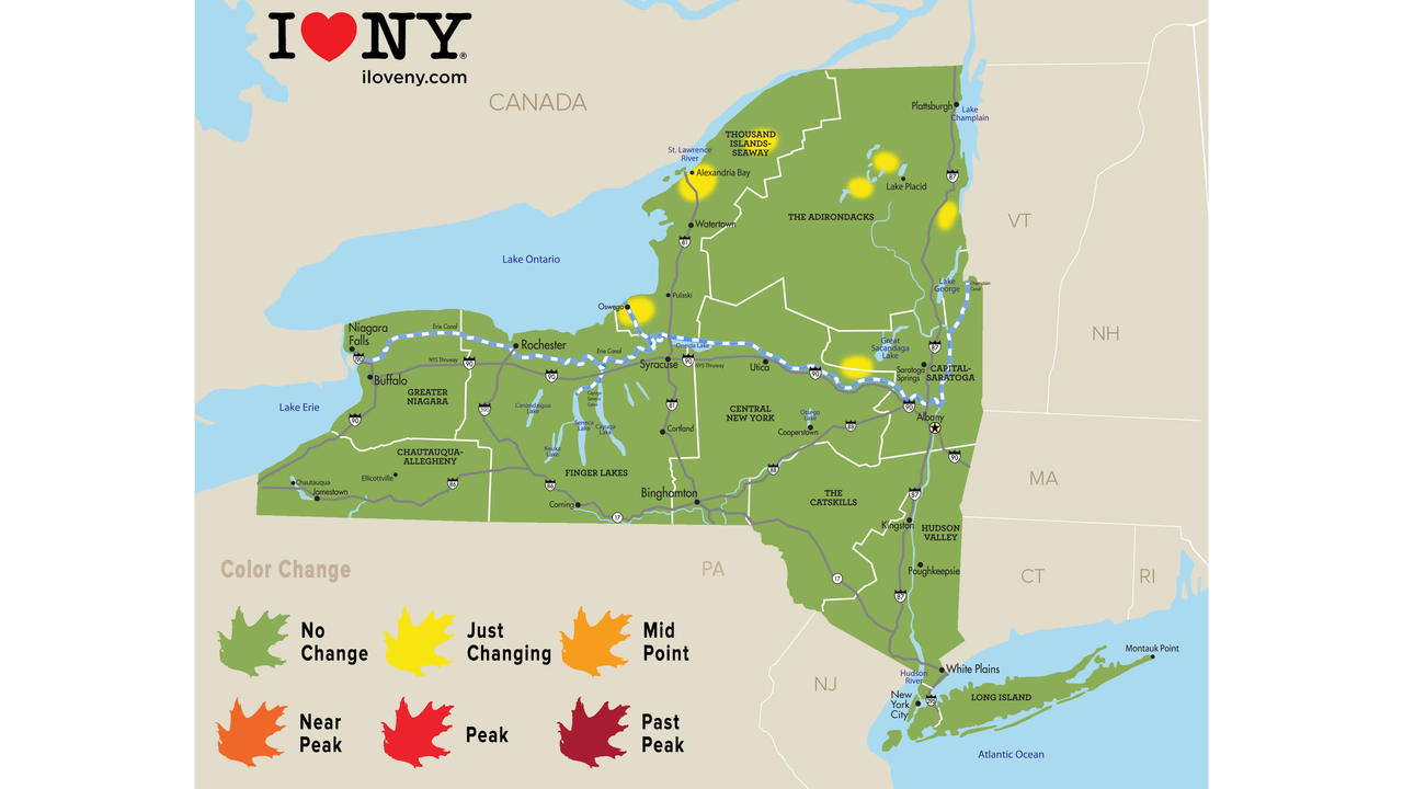 First Fall foliage report of 2018 released for New York State