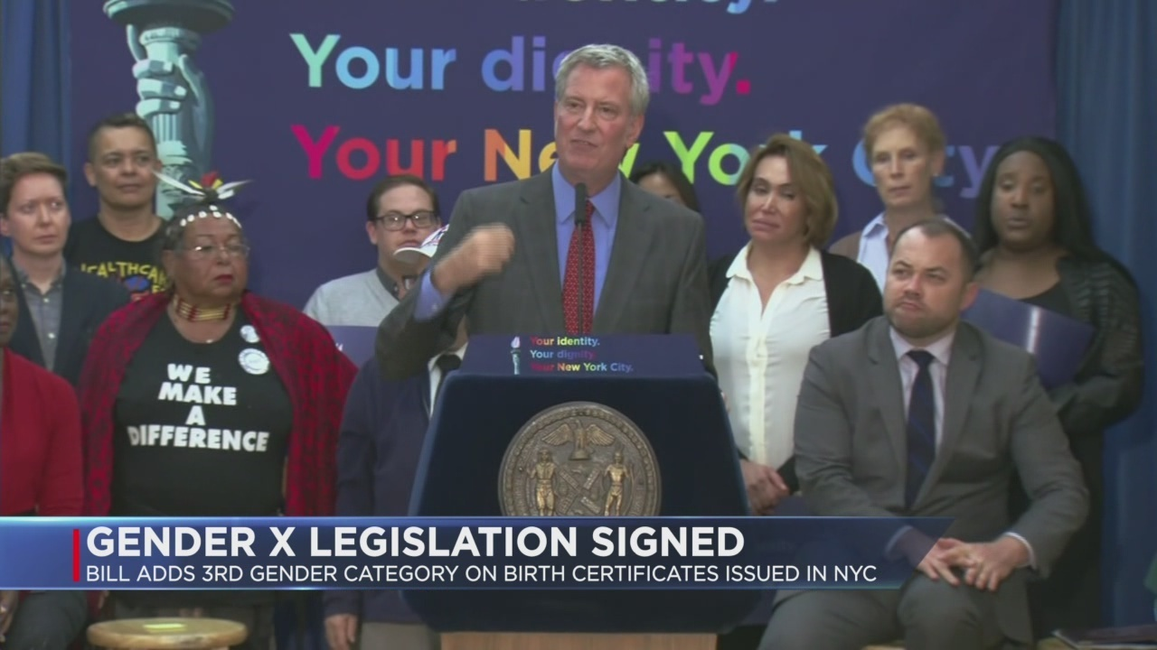 Nyc Mayor Signs Bill To Add 3rd Gender On Birth Certificates