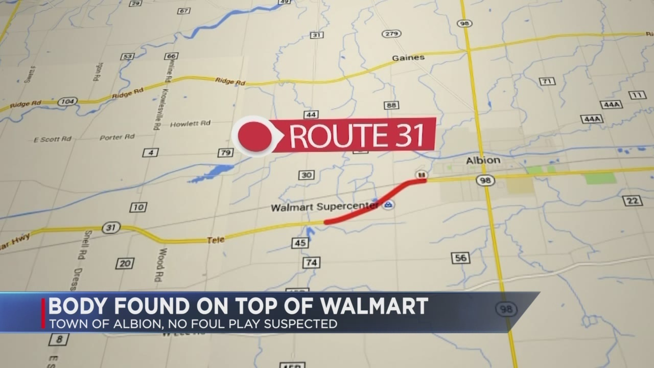 Irondequoit contractor found dead on roof of Albion Walmart