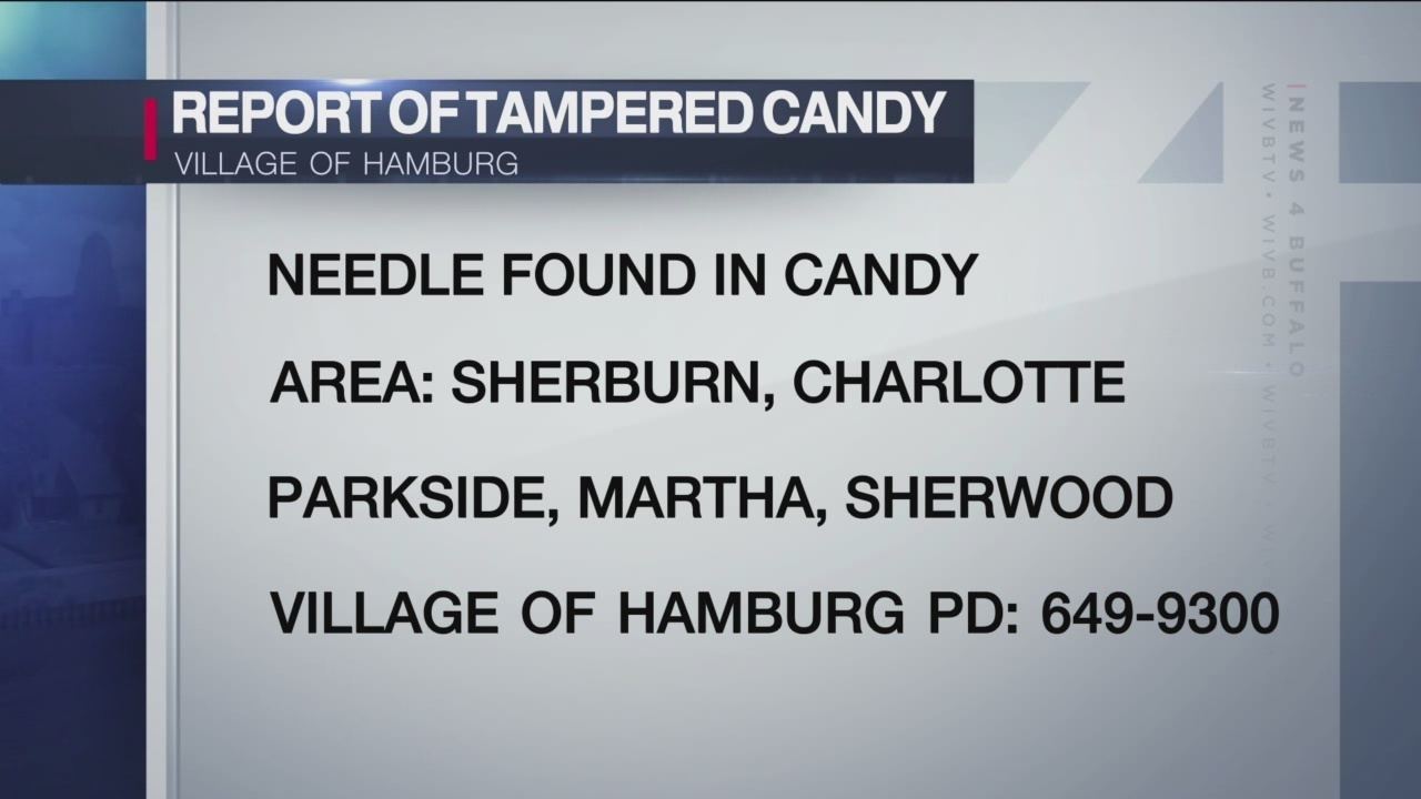 village of hamburg police receive report of halloween candy