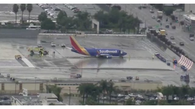 Plane goes off the runway in California, narrowly avoiding tragedy