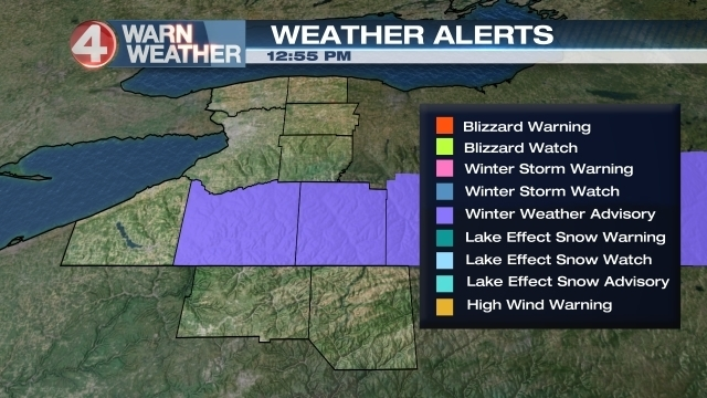 Winter Weather Advisory issued for Cattaraugus and Allegany counties