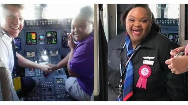 American Airlines welcomes girl with Down syndrome & terminal illness as flight attendant