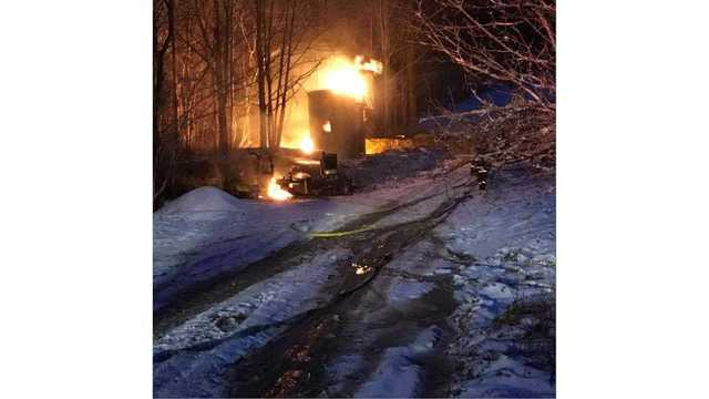 Hazmat crew responds to oil well fire in Cattaraugus County