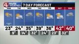 Snow builds in tonight, light accumulation into Monday