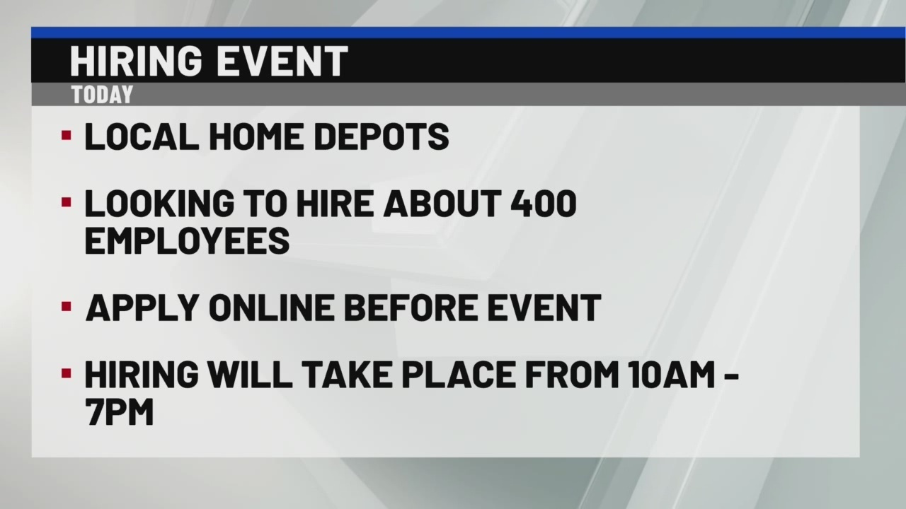 Home Depot looking to hire hundreds of people