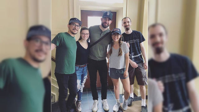 Coffee and Krasinski: Actor spotted at Spot