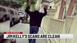 Jim Kelly remains cancer free