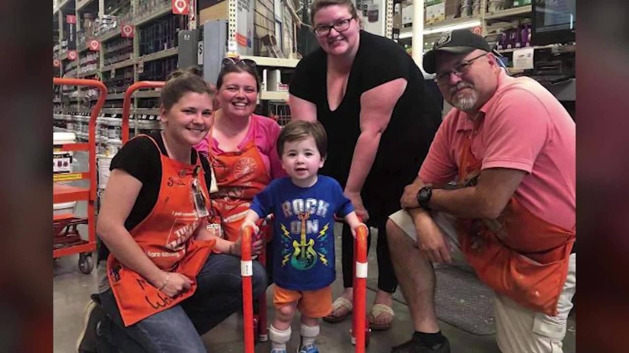 Home Depot Employees Build 2 Year Old Boy A Walker